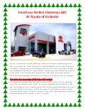 Find your perfect Christmas gift at Toyota of Orlando