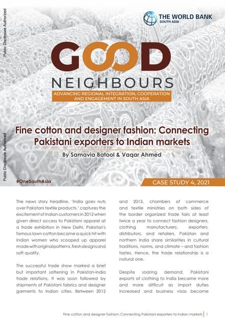 Export Prospects of Pakistan's Design Fashion