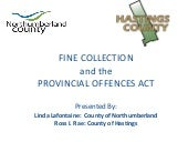 Fine collection and the provincial offences act oemc 2012