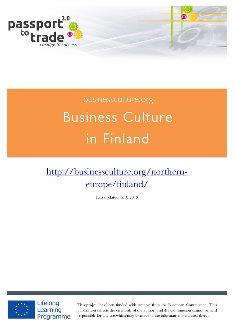 Finnish Business Culture Guide Learn About Finland