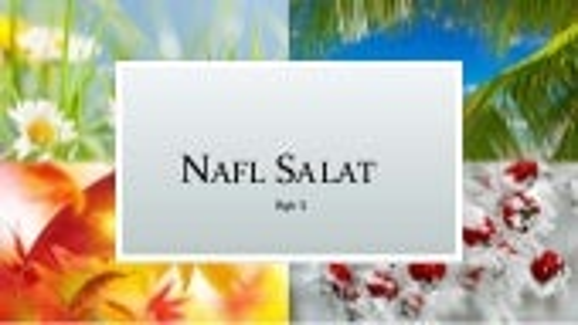 Fiqh of Nawafil