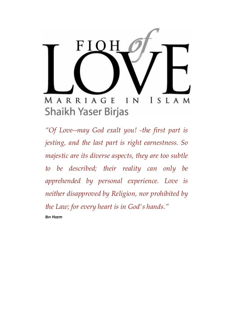 Of love marriage in islam fiqh of love marriage in islam biocorpaavc Images