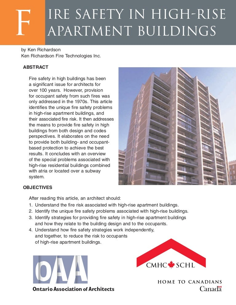 fire safety in high rise apartment buildings rh slideshare net Apartment Maintenance Manual Low Rise Building