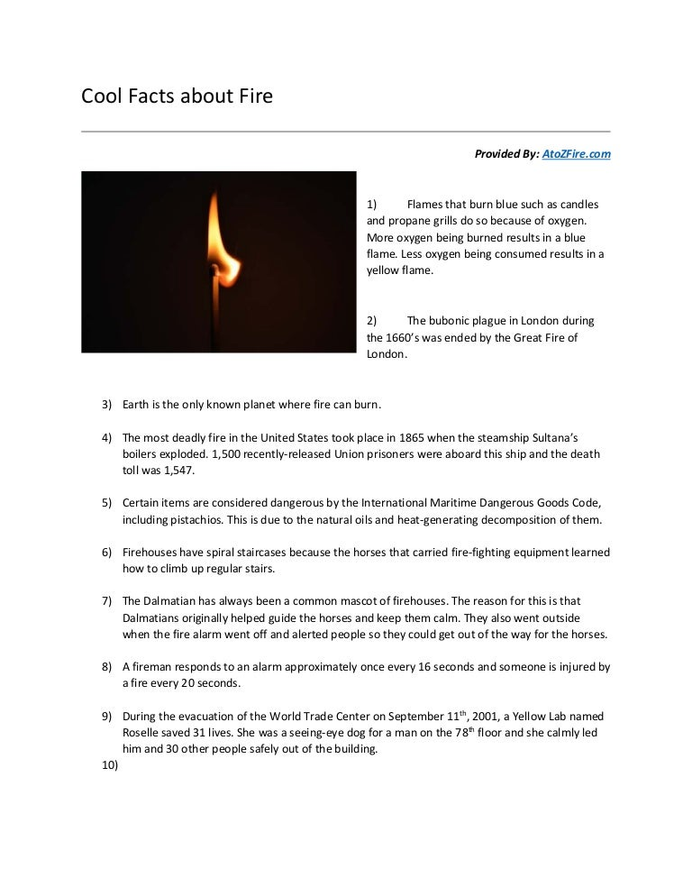 Interesting Facts about Fires | Provided By AtoZFire com