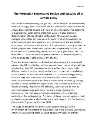 Fire safety essay legislation guidance Further, should you ...