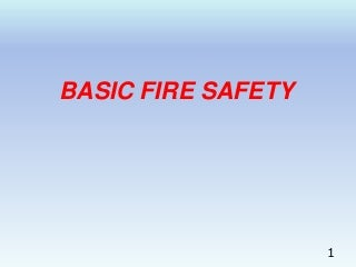 Fire & safety training