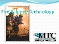 Fire Science Technology powerpoint