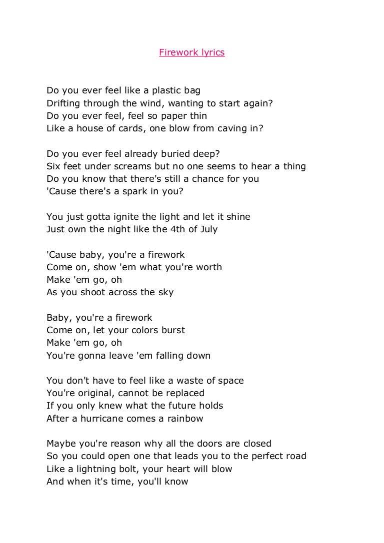 Plastic bag katy perry lyrics - Plastic Bag Katy Perry Lyrics 10