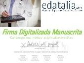 Firma digitalizada manuscrita de consentimientos informados historial medico electronico