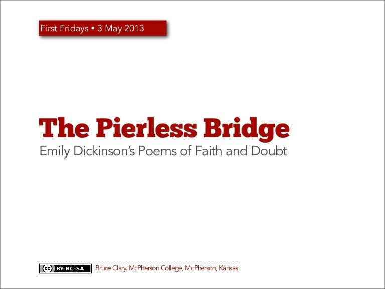 The Pierless Bridge: Emily Dickinson's Poems of Faith and Doubt