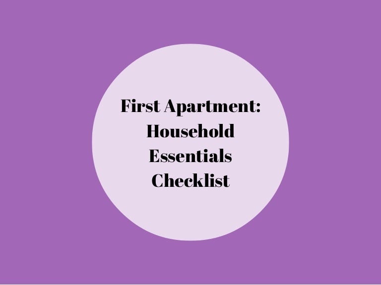 first apartment household essentials checklist