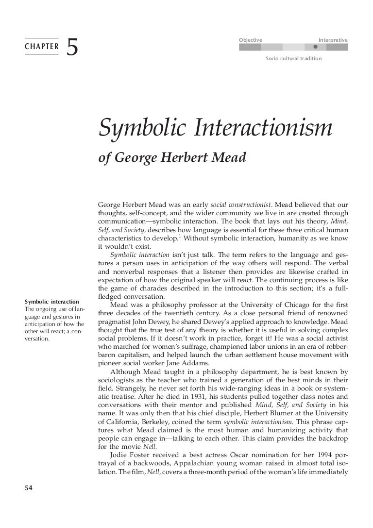 first look at communication theory symbolic interaccionism fernando i