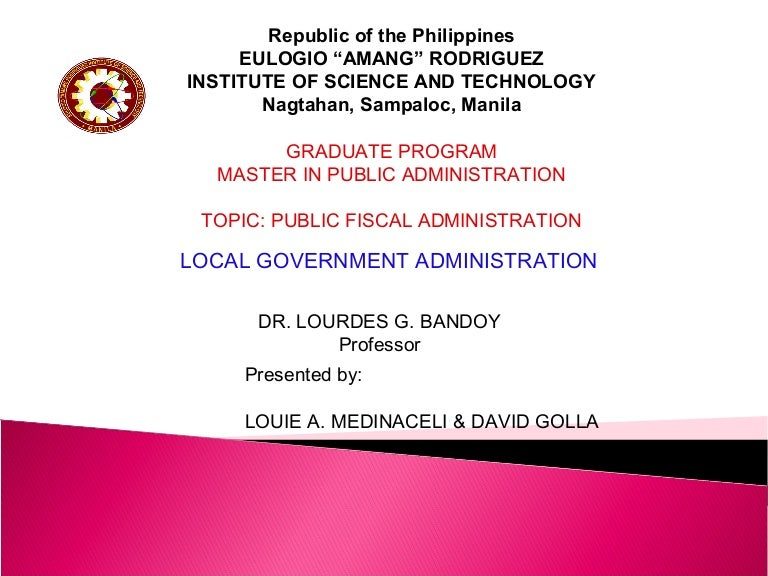 Fiscal Administration 2 Ppt