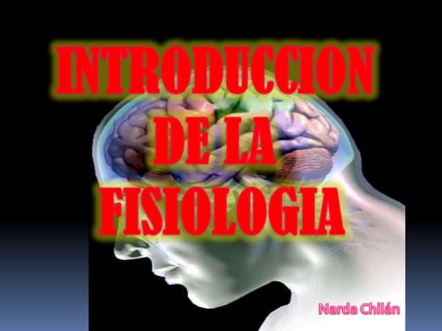 Introduccion a la Fisiologia 1