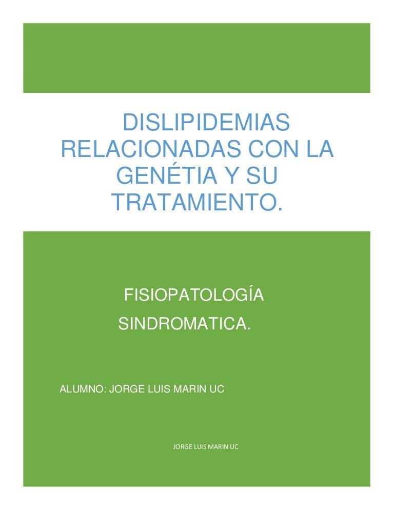 hiperlipidemia y diabetes fisiopatología y tratamiento