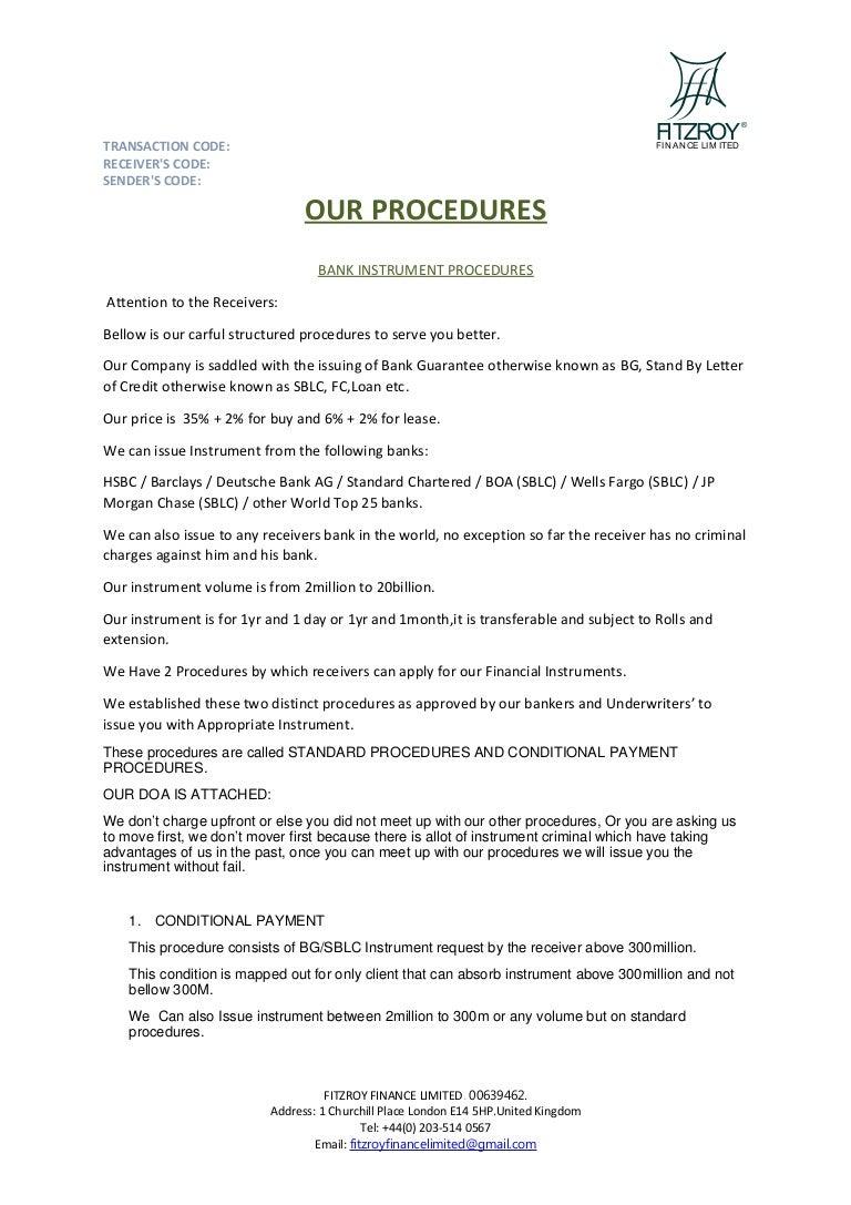 Fitzroy procedures