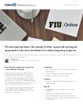 Florida International University Online case study