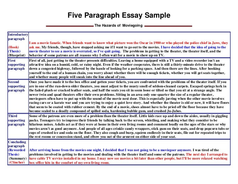 The  Paragraph Essay Example  Fiveparagraph Essay The  Paragraph Essay Example