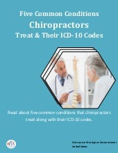 Five common conditions that chiropractors treat and their icd 10 codes