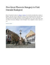 Five great places in hungary to visit outside budapest