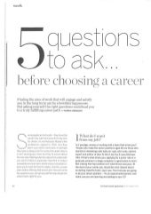 Five questions to ask before starting a career