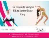 Five reasons to send your kids to summer dance camp