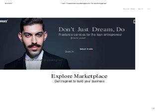 Fiverr freelance services marketplace for the lean entrepreneur