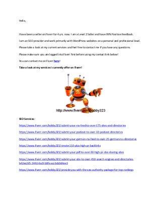 Fiverr bobby323 seo services