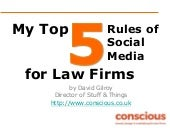 Five Rules of Social Media for Law Firms