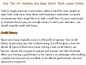 Five tips for getting the best short term loans online
