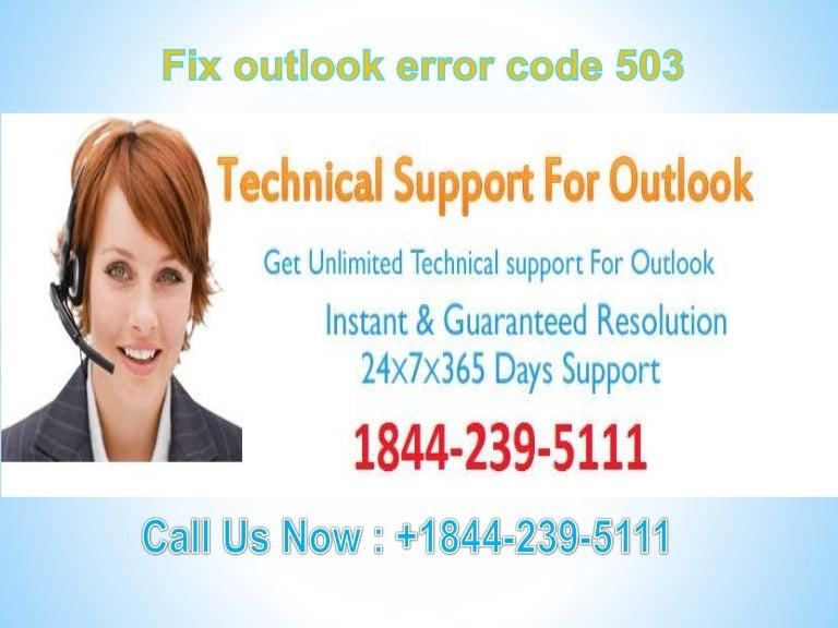 Fix outlook error code 503 #1-844-239-5111