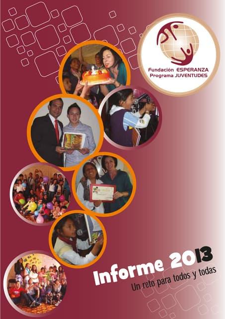 Programa JUVENTUDES- Informe 2013