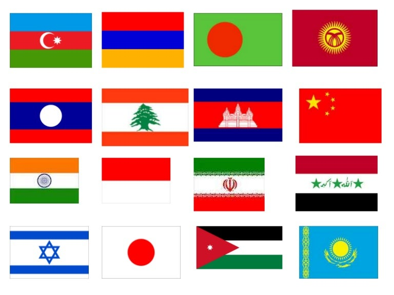 Flags Asia