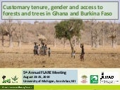 Customary tenure, gender and access to forests and trees in Ghana and Burkina Faso