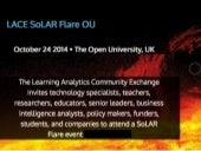 LACE SoLAR Flare Lightning Presentations