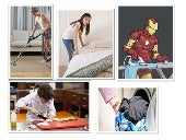 Flashcards household tasks