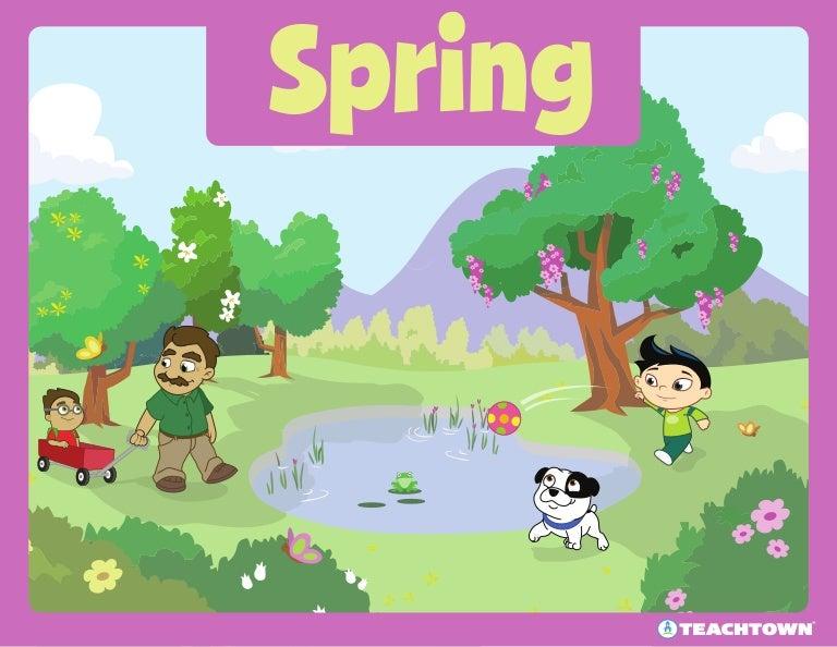 Весна картинки на английском языке