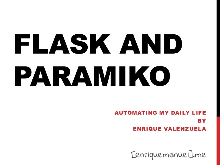 Flask and Paramiko for Python VA