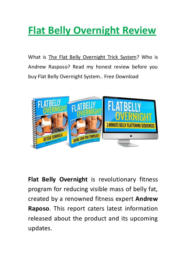 Flat belly overnight scam by andrew raposo.