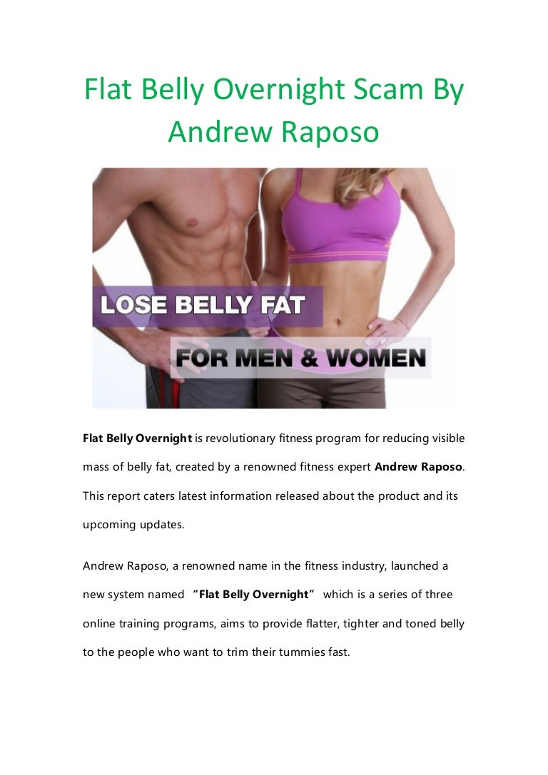 Andrew raposo's flat belly overnight review | does it work?