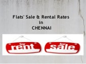 Flats' Sale & Rental Rates in Chennai