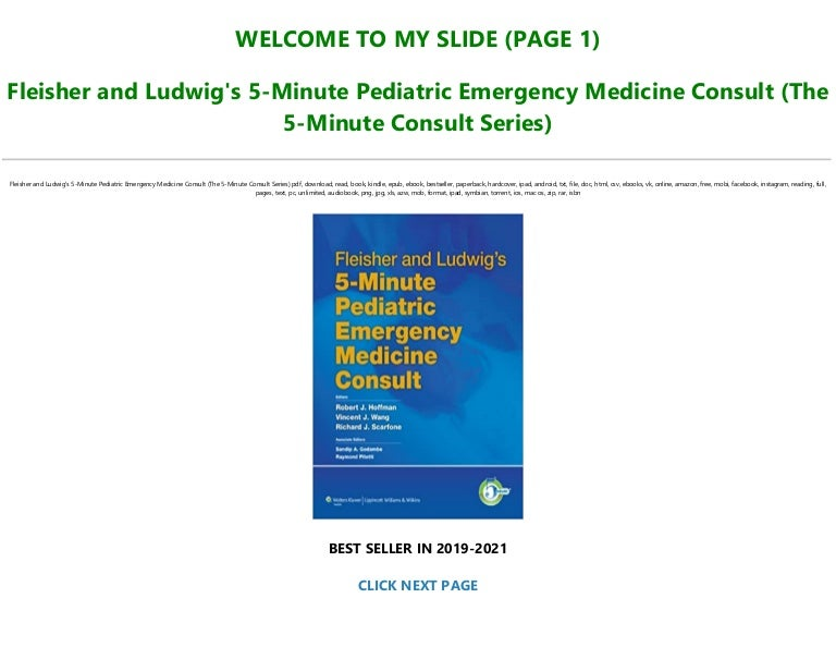 Free [Ebook]^^ Fleisher and Ludwig's 5-Minute Pediatric Emergency Medicine Consult (The 5-Minute Consult Series) TXT,PDF,EPUB