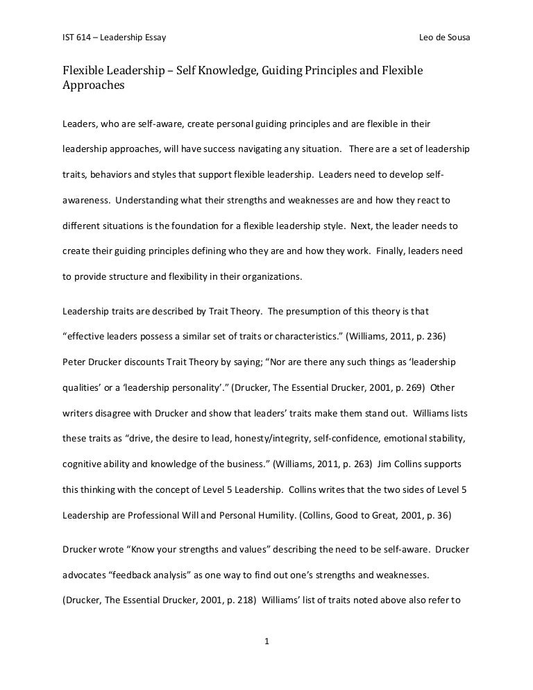 Qualities Of A Leader Essay essay about south korea