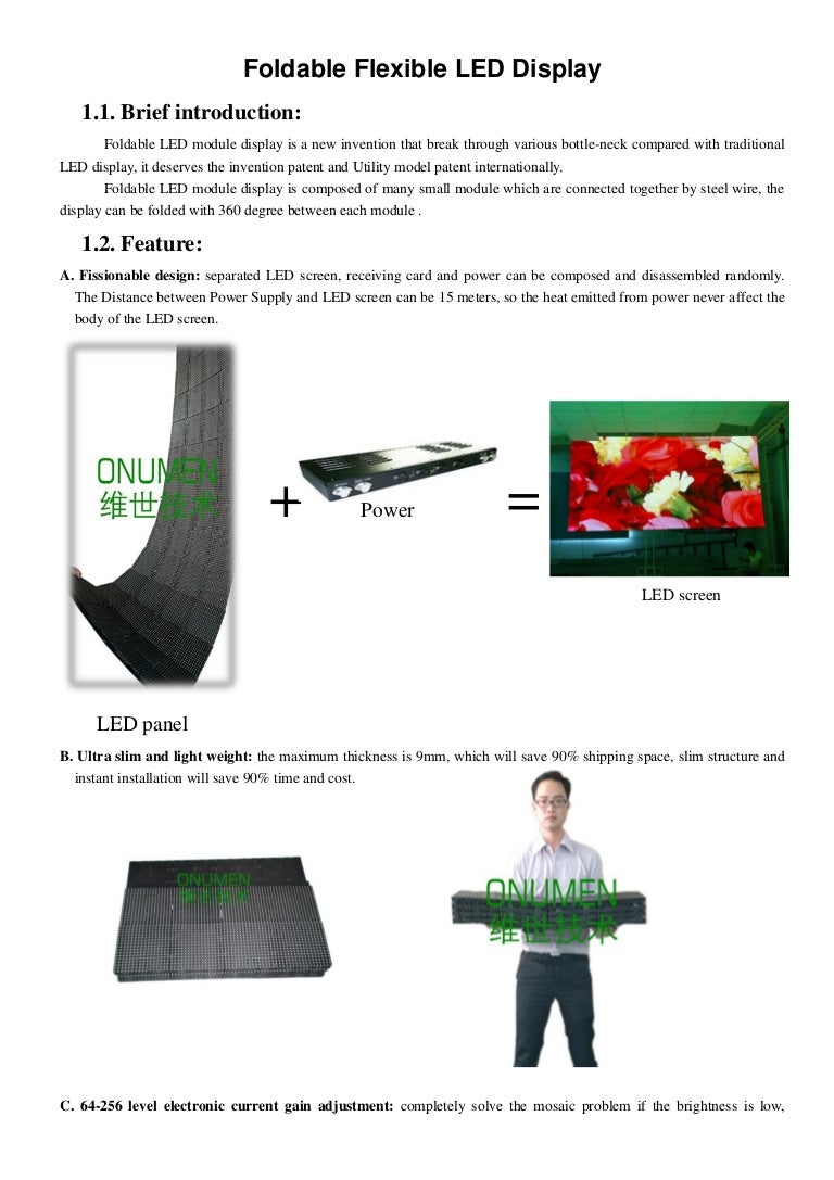 Flexible led screen Display - the brightest centerpiece for