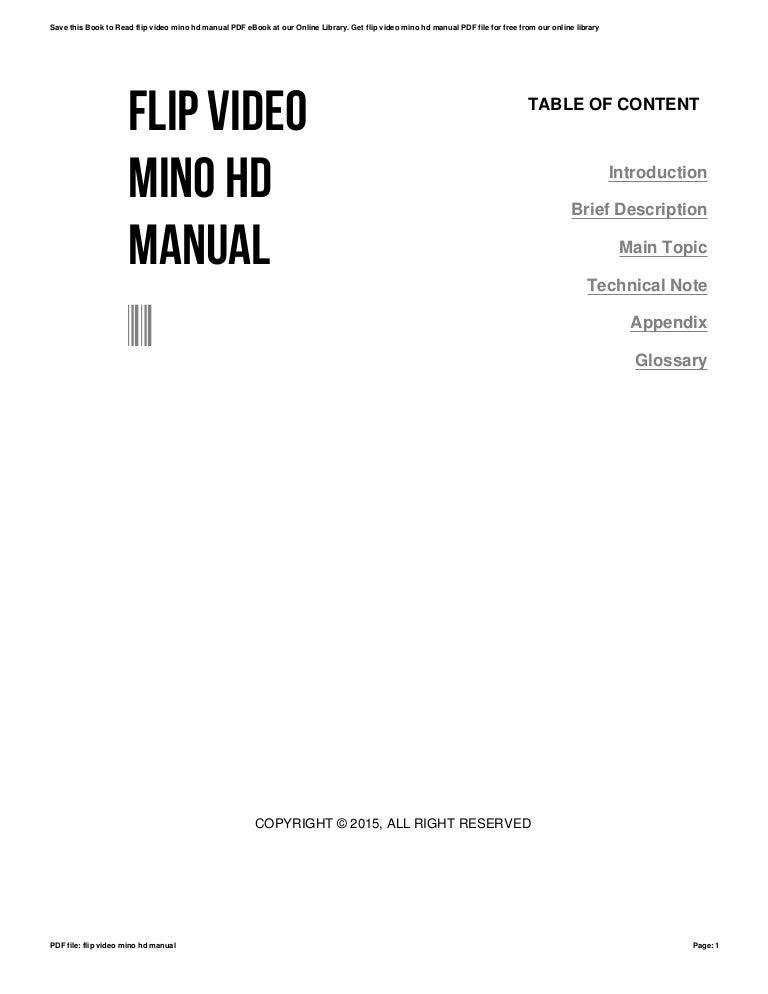 Flip video mino hd manual