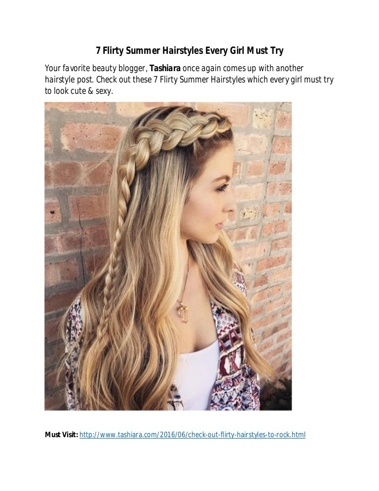 Flirty Summer Hairstyles To Look Hot & Sexy