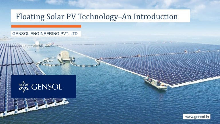 Floating Solar Pv An Introduction