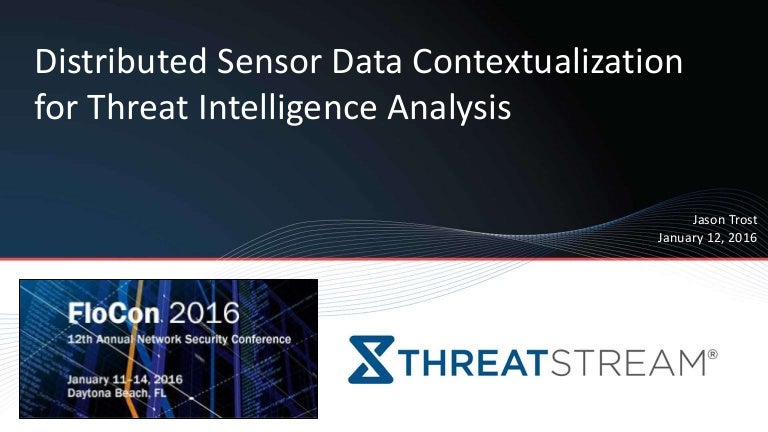 Distributed Sensor Data Contextualization for Threat