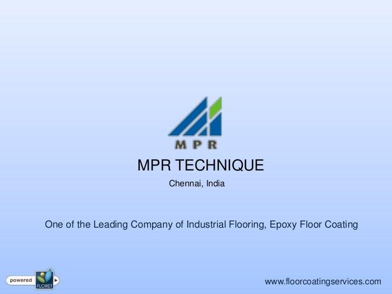 Floor coating services in India