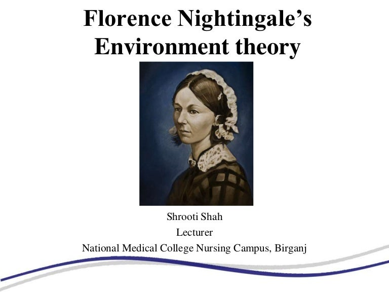 application of nightingale environmental theory Florence nightingale conceptualized manipulation of the physical environment is a critical component of nursing she established several key factors nurses can control to prevent illness and promote health analysis of the critical components of the conceptual nursing model and theory nightingale.